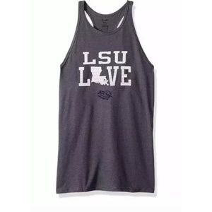 Soffe LSU Love Purple Racerback Tank Top, Size L